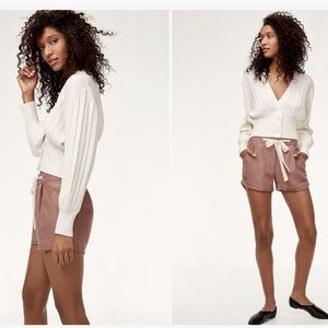 Wilfred Allegra Brown Shorts w/Ribbon Belt Size 0